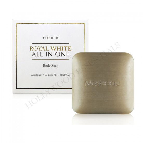 Glutathione, Placenta & Collagen Skin Whitening Body Soap - Royal White All-In-One Whitening Body Soap 120g