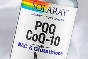 Solaray PQQ, CoQ10, NAC and Glutathione Skin Whitening Supplement Pills, 30 Capsules
